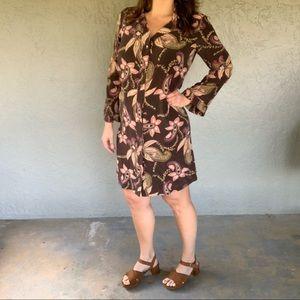 Mossimo Silk Floral Shirt Dress